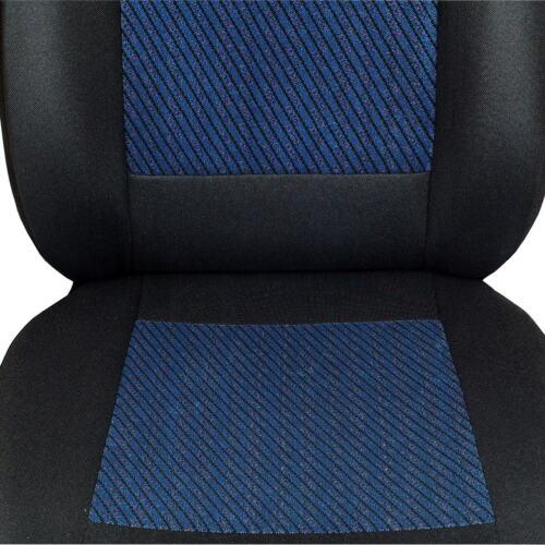 Schwarz-blaue Velours Sitzbezüge für PEUGEOT 107  Autositzbezug VORNE