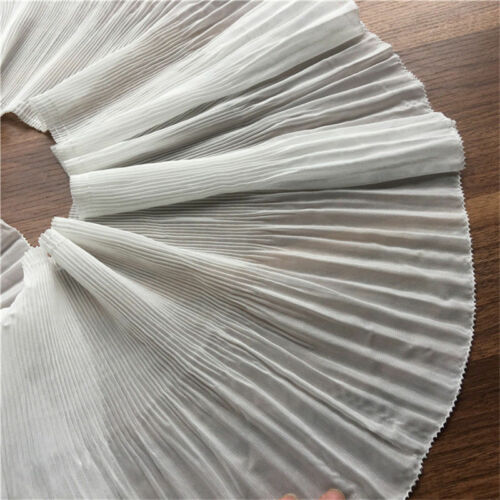 2yds Elastic Ruffle Lace Edge Trim Chiffon Pleated Ribbon Sewing 8.66/'/' Width