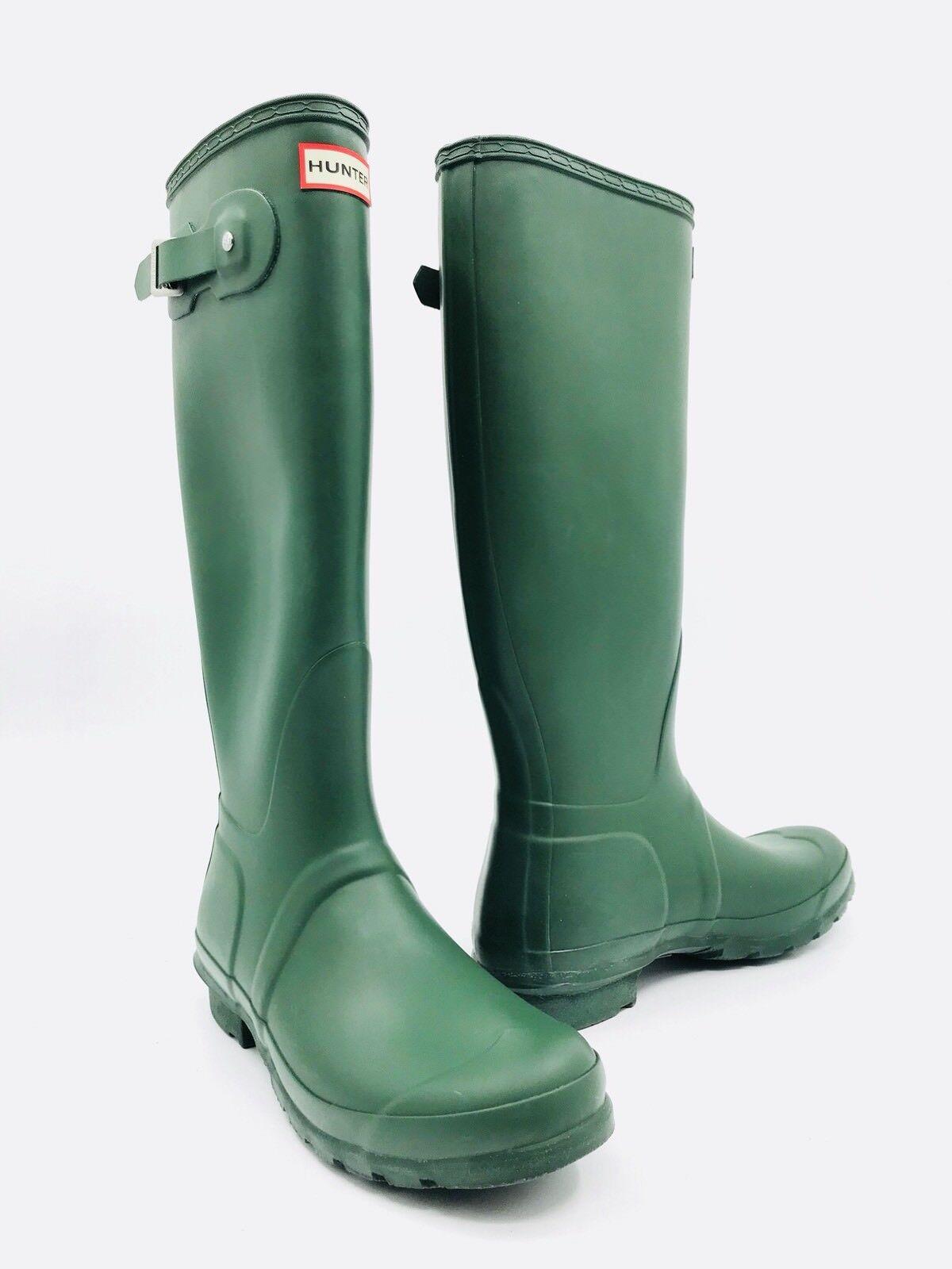 Hunter Original Tall Matte Green Green Green Rain Boots Women's Size 9 - Blemish 8b2437