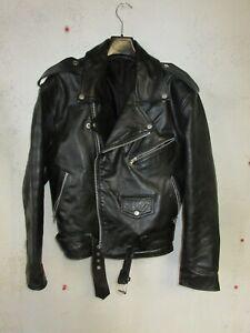 Blouson Perfecto CHEVIREX en cuir noir taille M