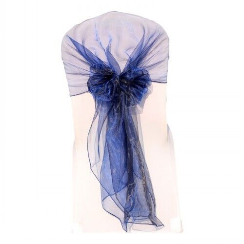 1~200pcs Organza Hood Chair Cover Sashes Bow Wider Fuller Bows Wedding Party Dec