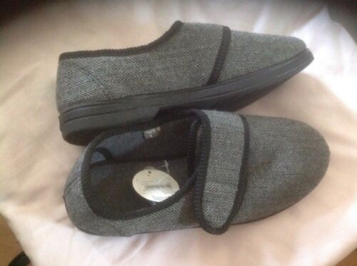 Liquidation Velc 8 Mens Size Slippers Lovely Grey New Shop 8wBq1RgAx
