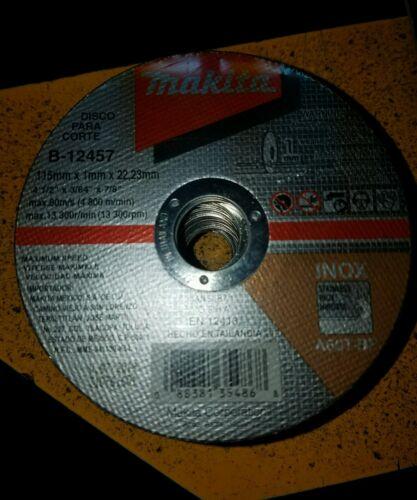 """MAKITA B-12457 PACK OF 50 PZ CUT-OFF WHEEL 4 1//2/"""" X 3//64/"""" X 7//8/"""" 115-A60T"""