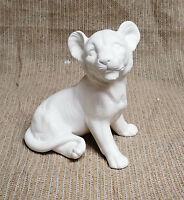 Ceramic Bisque Lion Cub Texas Mold 641 U-paint Ready To Paint