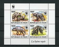 Niger 2015 MNH Striped Hyena WWF 4v M/S Hyenas Wild Animals Fauna