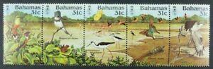 Schmetterlinge-Butterflies-1984-Bahamas-Voegel-Birds-Greifvogel-570-74-MNH-85