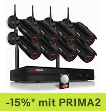 Überwachungskamera Set Außen Videoüberwachang Wlan Funk 5MP 3K Mit 2TB HDD IP66