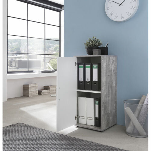 Weiß AKTENSCHRANK Büroschrank Lagerschrank Schrank 38cm breit Beton Optik