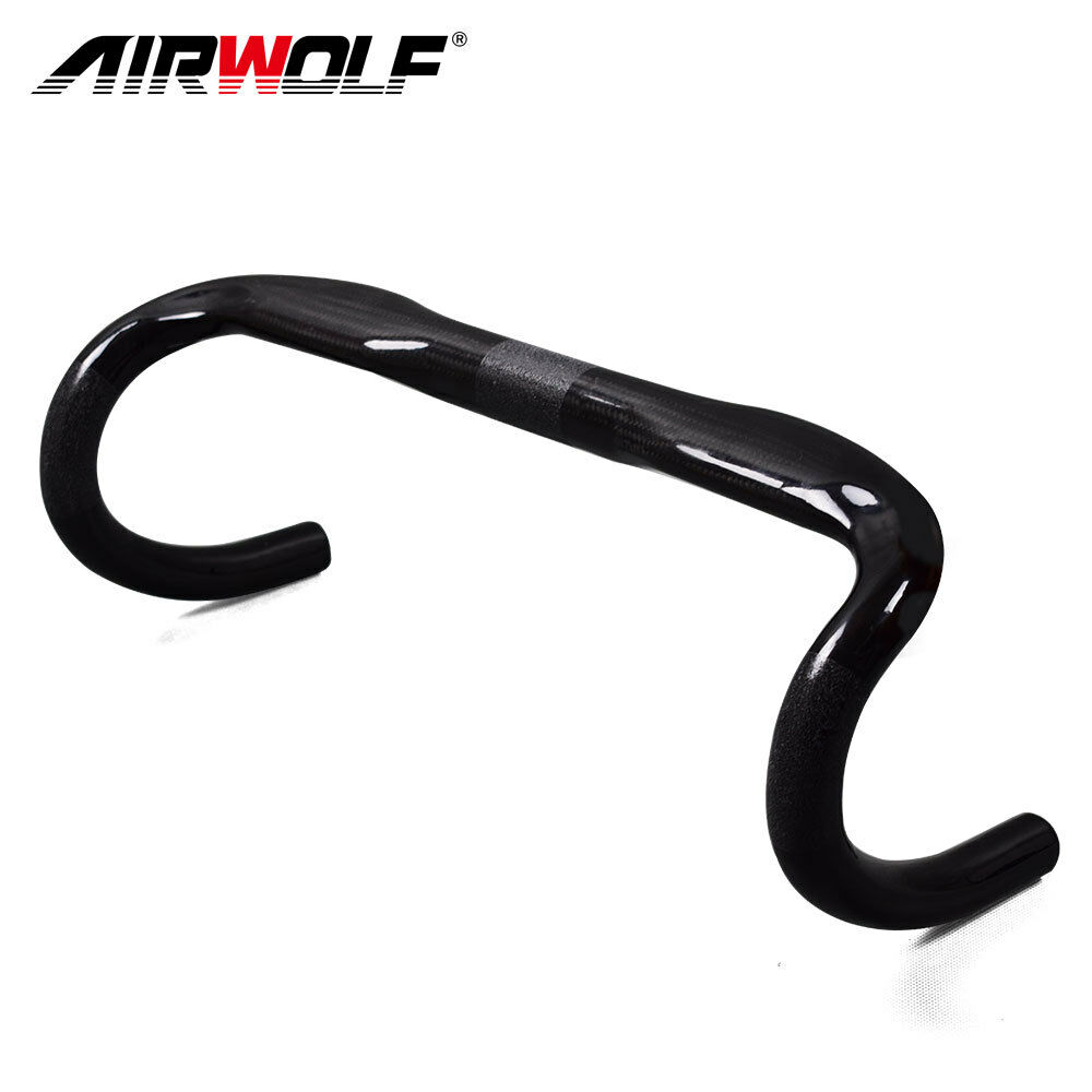 Airwolf carbon road handlebar 3K twill weave 31.8400 420 440mm bicycle drop bar