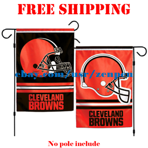 Cleveland-Browns-Logo-Garden-Outdoor-Flag-Double-Sides-12x18-034-NFL-2019-Fan-NEW