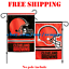 Cleveland-Browns-Logo-Garden-Outdoor-Flag-Double-Sides-12x18-034-NFL-2019-Fan-NEW thumbnail 1