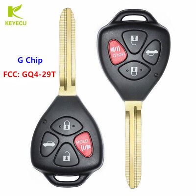 Replacement for Toyota 2008-2012 Rav4 2009-2016 Venza Remote Fob Shell Case Pad