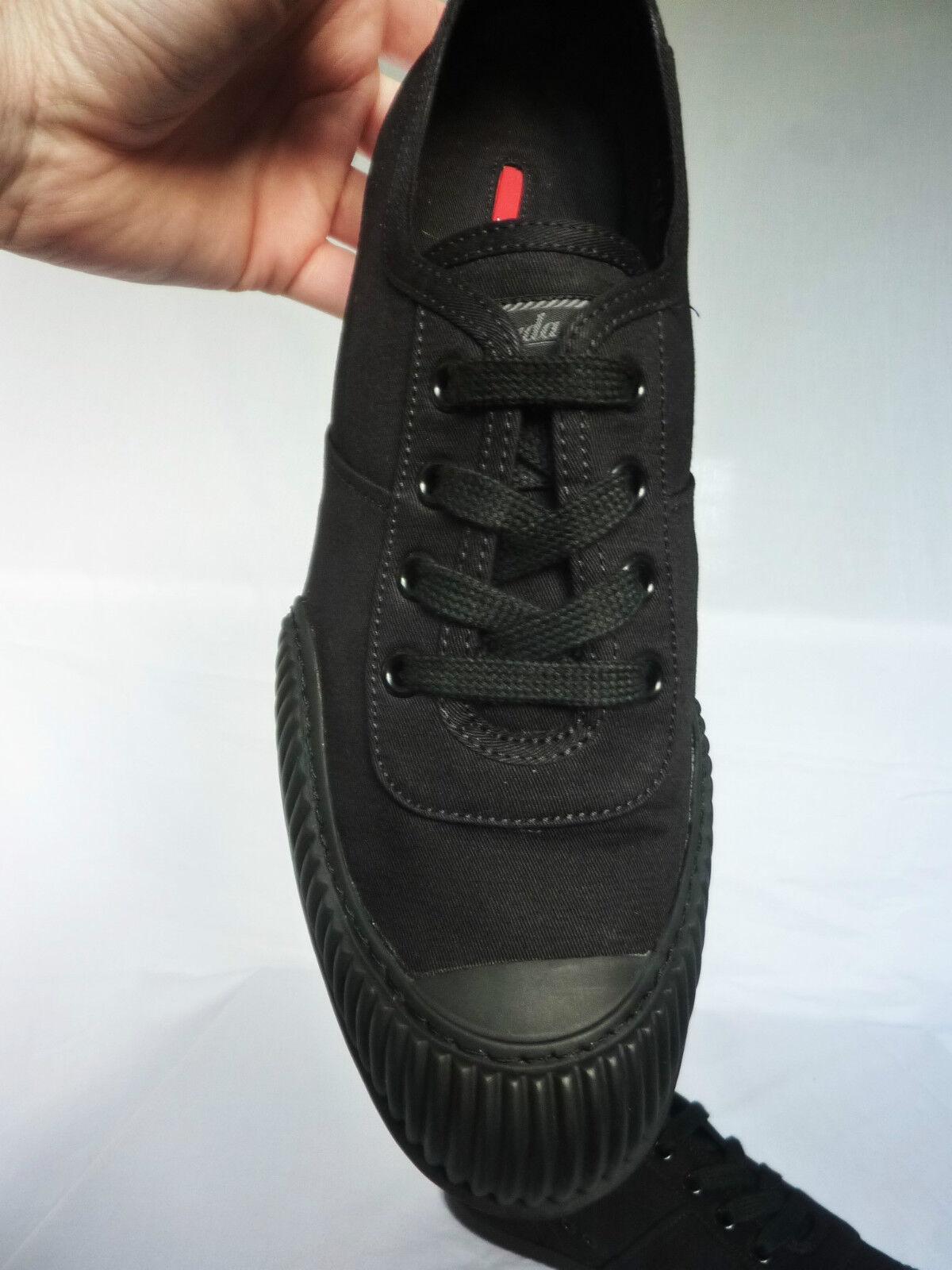 NEUF PRADA noir qualité Baskets Escarpins Chaussures Sac Boîte réception Taille 40UK 7