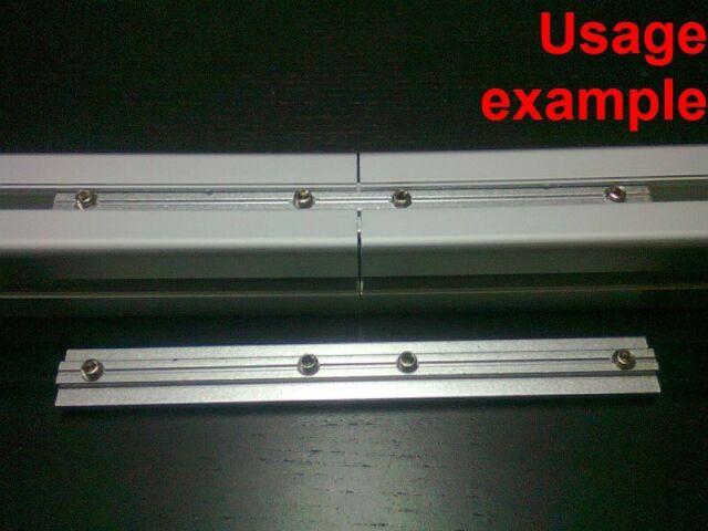 Aluminum T-slot profile 180 deg inside straight connector 40x40-8mm, 4-set