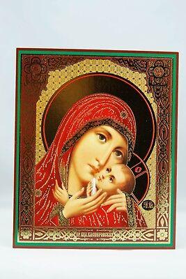 Mother Of God Kasperovskaya Icon Божией Матери Касперовская Wood Base 10X12 Cm