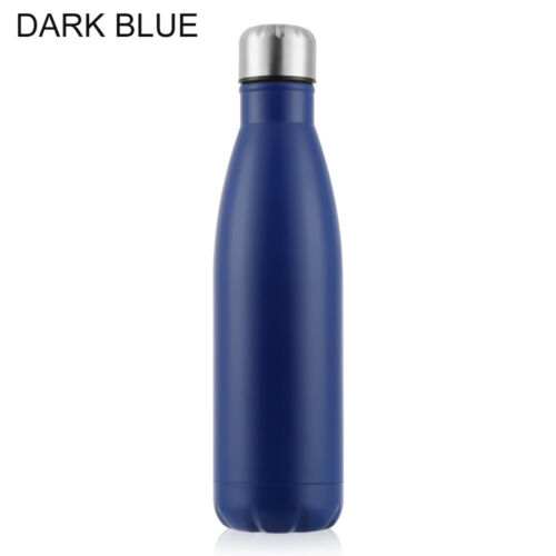 Stainless Steel Water Bottle Insulated Vacuum Sport /& Gym Drink Flask 500 ML UK