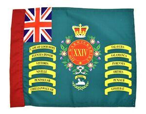 British-Army-24th-Foot-Regiment-Queens-Colours-Flag-Regimental-2nd-Warwickshire
