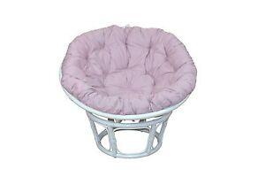 papasansessel wei rose 100 auflage kissen rattansessel relaxsessel g nstig. Black Bedroom Furniture Sets. Home Design Ideas