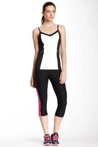 Black//Fuchsia $52 Marika Tek Cool Vision Capri Legging Performance Large Color