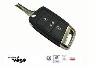Volkswagen-Original-Tapa-de-Llave-VW-Emblema-Cromo-VII-Golf-7-Polo-5G0837599A