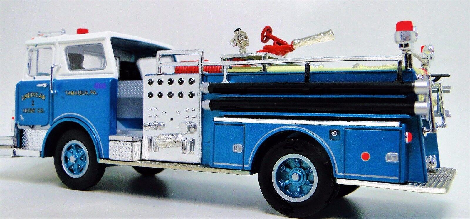 1 Vintage 1970 Bomberos Camión de un modelo de metal T 24 Antiguo Coche De Recogida Azul 18