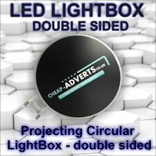 Double Sided Outdoor Round Illuminated Projecting Light Box Sign D500mm Led