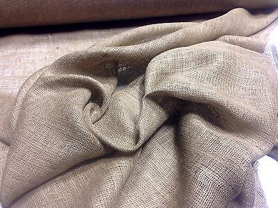 "10 Yards Of 72"" W 8 oz Standard Burlap Natural Jute Fabric Vintage Upholstery"