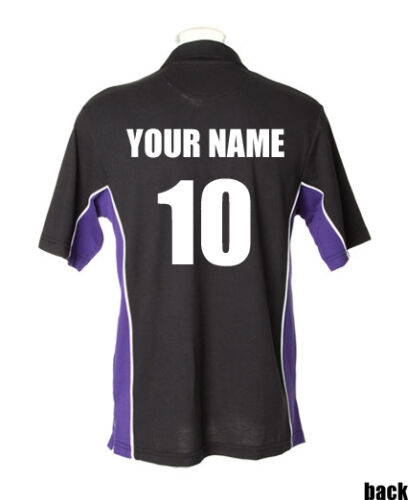 Rugby Tour Shirts GameGear personalised Teamwear polo shirts Black//Purple