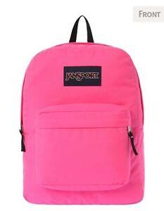 new concept 41463 2e1bb Image is loading Jansport-SuperBreak-Pink-Girls-Backpack-Bag-NWT-NEW