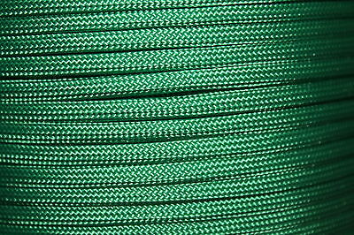 Kelly Green 550 Paracord Mil Spec Type III 7 strand parachute cord 10 - 100 ft