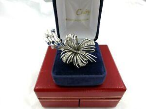 Broche-Ancienne-platine-diamants-saphirs
