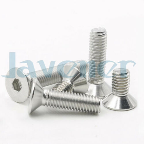M5×22-50mm 304 Stainless Steel Hex Allen Socket Countersunk Head Screws DIN7991