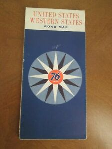Details about 1962 UNION 76 WESTERN UNITED STATES ROAD MAP