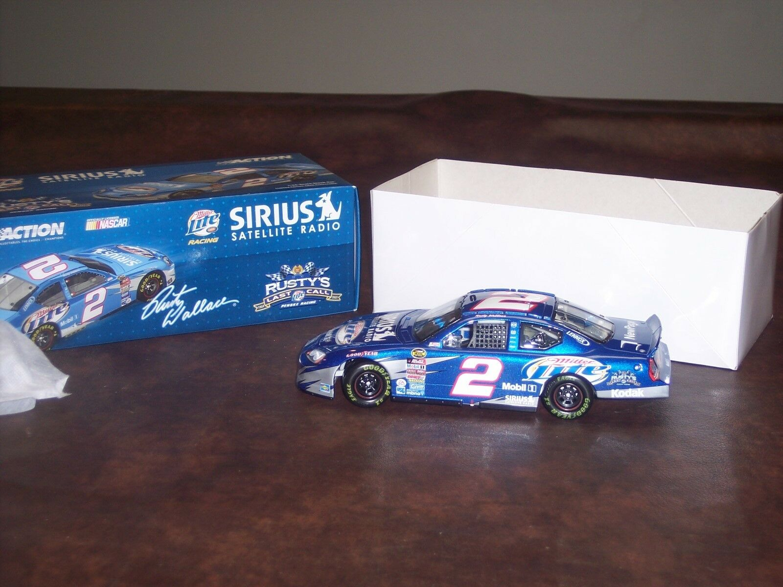 RUSTY WALLACE-SIRUS SATELLITE RADIO-  2 MILLER LITE-2005 CLUB CAR- ONLY 288 MADE