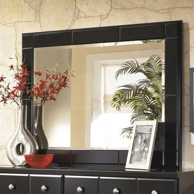 Signature Design by Ashley Shay Bedroom Mirror in Almost Black