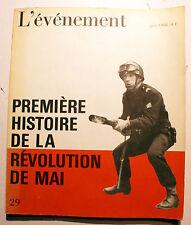 MAI 68/L'EVENEMENT/PREMIERE HISTOIRE DE LA REVOLUTION/1968/EO/PHOTOS