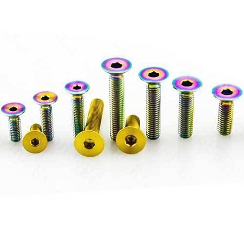 4pcs Titanium Countersunk Bolts Screws Fasteners M6 x10//15//20//25//30//35//40//55mm