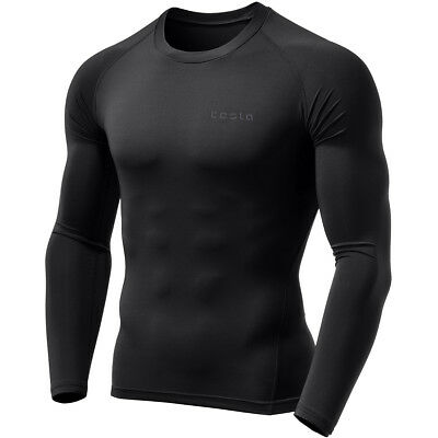Clothing & Accessories Activewear Confident Tesla Mud01 Cool Dry Long Sleeve Compression Shirt Black/black