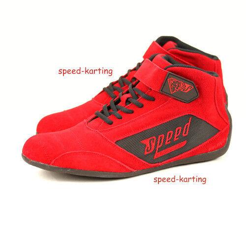 Speed Kartschuhe Rot Milan - Motorsport- Kartsportschuhe Karting Stiefel Gr 36 -46