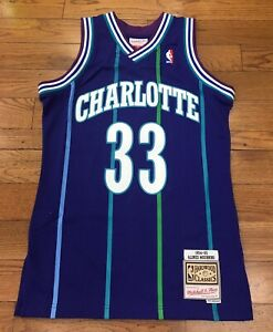 watch f32af 48987 Details about Charlotte Hornets Alonzo Mourning Mitchell & Ness NBA  Swingman Jersey