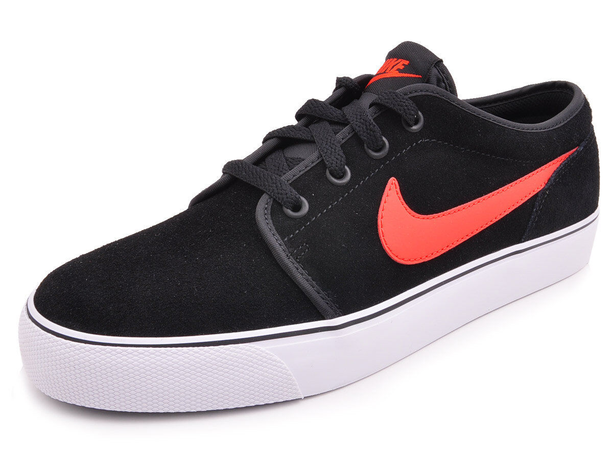 NEW LOW NIKE TOKI LOW NEW LTHR LEATHER Nero Light Crimson Uomo NIB Vintage cd3109