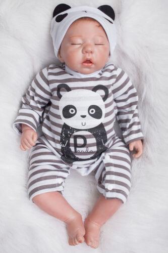 Baby Reborn Sleeping Handmade Lifelike Baby Boy Doll Silicone Vinyl Newborn 20/'/'