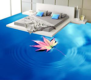 3D Maple Leaf Ripple Sea 5 Floor WallPaper Murals Wall Print Decal AJ WALLPAPER