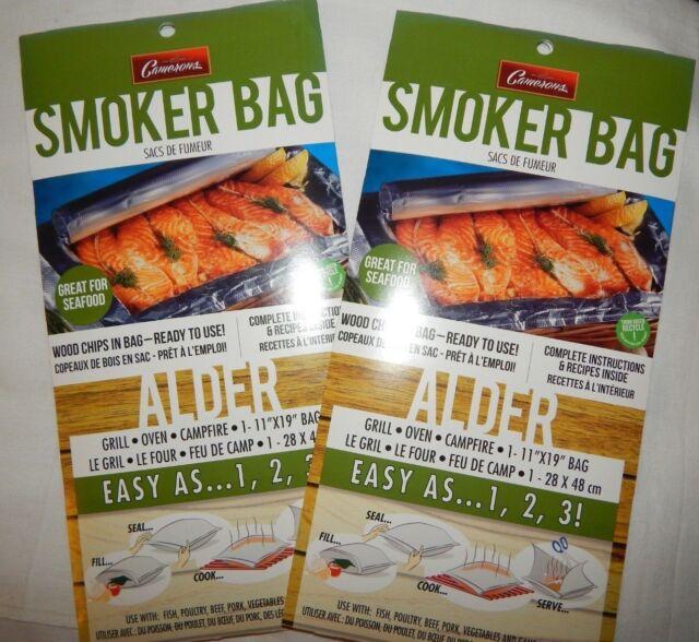 Smoker Bags 6 Alder Wood Chips Woodchips Smoking Bag Camerons