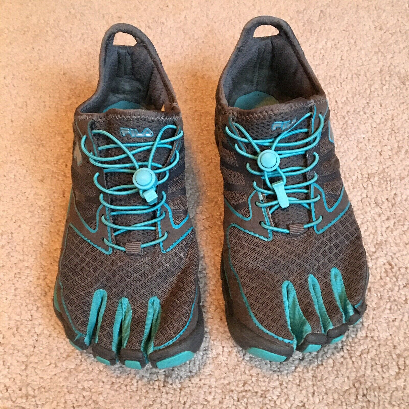 Fila Skele-Toes Athletic Bleu Gris Pour Femme Chaussures Taille 8