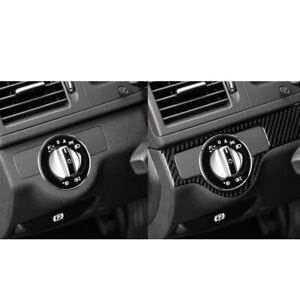 Real-Carbon-Fiber-Control-Strip-decoration-trim-For-Mercedes-C-Class-W204-2007