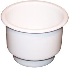 Single New Two tiered White plastic cup drink can holder boat RV Universal