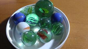 Lotto-10-Biglie-per-Set-Giocattolo-in-Marmo-Tradizionale-Decorativa-All-039-Random