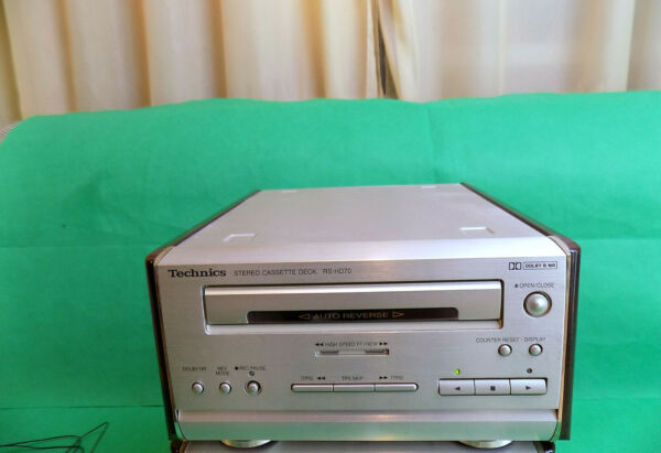Actief Technics Rs-hd70 Cassette Deck Hi-fi System Component Unit + Cl15 Tape Case Aantrekkelijk En Duurzaam