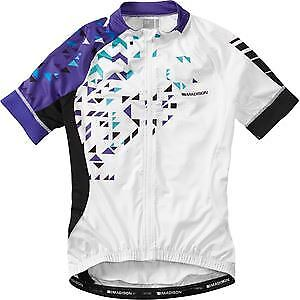 Madison Sportive women's short sleeve jersey, white   purple reign size 8